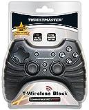 Manette 'T-Wireless' noire pour PC/PS3