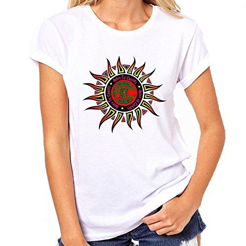 """""""Alice In Chains-Maglietta da donna con Logo bianco Small"""