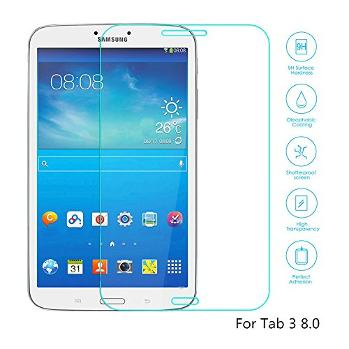 Boriyuan Tab 3 8.0 Screen Protector, [Tempered Glass Protection] Ultra Slim Crystal Clear Premium Tempered Glass Screen Protector For Samsung Galaxy Tab 3 8.0 Inch Tablet T311 T310 - Brand New In Retail Package, Comes With A Micro Fiber Cleaning Cloth + A