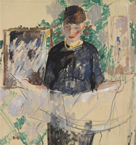 Perfect Effect Canvas ,the Best Price Art Decorative Prints On Canvas Of Oil Painting 'Rik Wouters - Woman In Black Reading The Newspaper, 1912', 8x9 Inch / 20x22 Cm Is Best For Game Room Decoration And Home Decor And Gifts