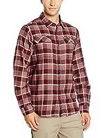 Columbia Camisa Hombre Flare Gun Flannel (Rojo Oscuro)