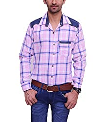 Ballard Men's Casual Shirt (BCS0003_Pink_44)