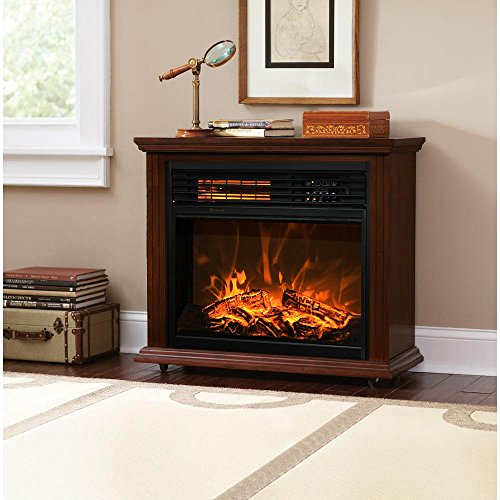 XtremepowerUS Infrared Quartz Electric Fireplace Heater Finish with Remote Controller (Walnut) (32 Electric Fireplace compare prices)
