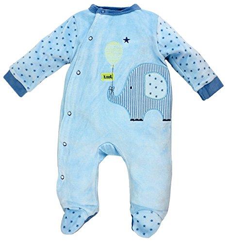 Rock a Bye Baby - Baby-Strampler, Schlafanzug aus Nicki, Elefant