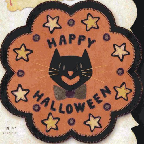 Pattern - Black Cat Wool Table Rug