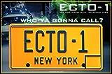 Réplica Matrícula Cazafantasmas - ECTO-1 / Ghostbusters