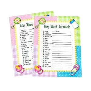 37 new baby shower games party city 871 baby shower word scramble game