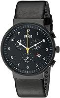 Braun Men's Quartz Chronograph Watch with Leather Strap BN0035