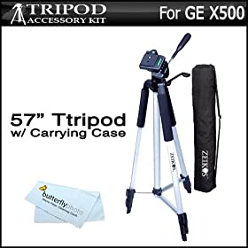 Deluxe Pro 57 Camera Tripod with Tripod Carrying CaseFor The Sony Bloggie Touch MHS-TS20 TS10 Camcorders