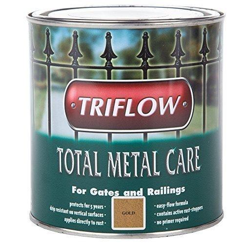 Triflow Total Metal Care Paint Gates & Railings 1L Gold