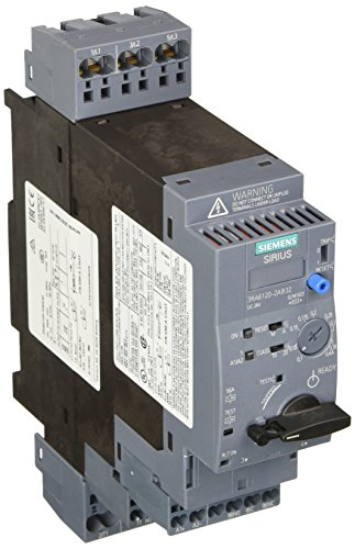 Siemens 3RA61202AB32 Compact Combination Starter, Standard Induction Motor, 4 Pole at 480VAC, Spring Type Terminals, 24VAC/VDC Voltage (Siemens Induction compare prices)