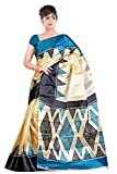 Sheknows Multicolor 40 Gram Silk tafeta sari