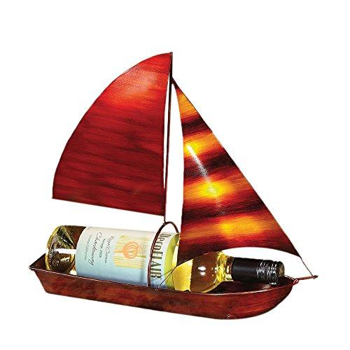 DecoFlair Wine Bottle Holder, Sailboat