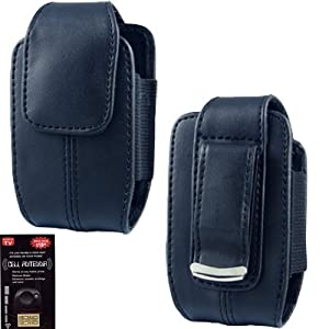 Samsung Convoy 2 U660 & Convoy u640 Vertical Leather Case with Magnetic Closure and Belt Clip on the Back.