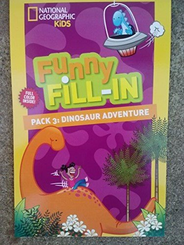 National Geographic Funny Fill-in ~ 'Mad Lib' Activity Pad ~ #3: Dinosaur Adventure - 1
