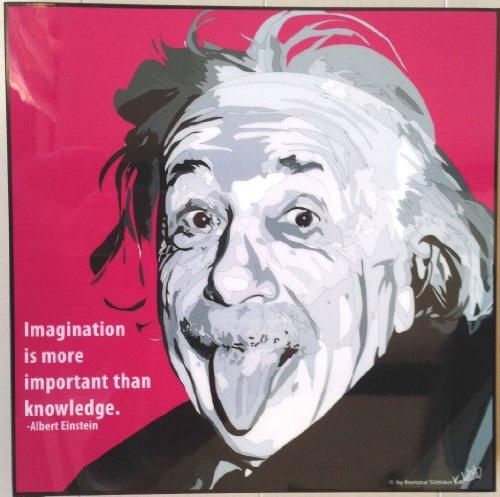 アルベルト・アインシュタイン 海外グラフィックアートパネル 木製 ポスター インテリアに