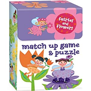Peaceable Kingdom / Fairies and Flowers 2-in-1 Match Up Memory Game & Floor Puzzle