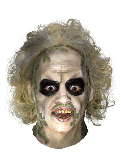 Beetlejuice Full Latex Mask for Adults.