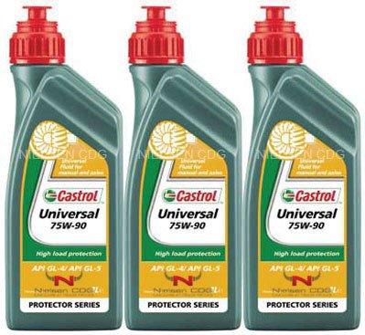 Castrol Universal 75W-90 Gear Oil Semi Synthetic CAS-1827-7160-3 - 3x1L = 3 litre