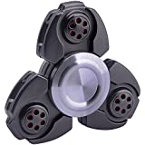 Fidget Spinner Pro Metal Series [Black] Stress Reducer Fidgit Toy For Kid Adult [Easy Flick + Spin] Prime Ball Bearing Finger Spinner Hands Focus Toys Perfect For Anxiety,Autism,Boredom