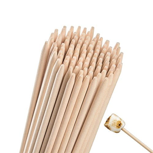 Why Choose Natural Bamboo Marshmallow Roasting Sticks-5mm Thick Extra Long Heavy Duty Wooden S'mores...