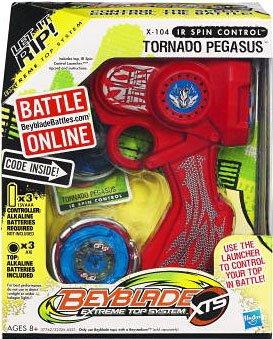 Beyblade Extreme Top System X-104 IR Spin Control Tornado Pegasus Top