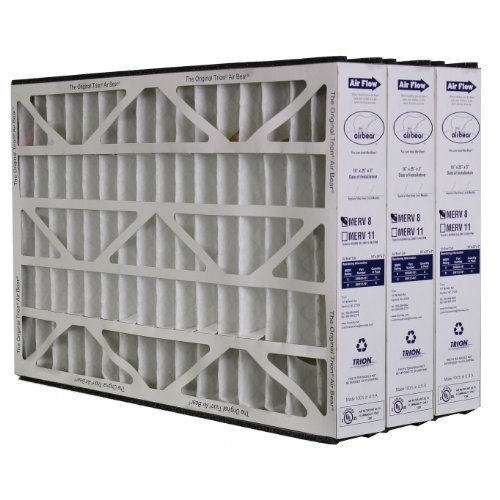 Trion Air Bear 255649-101 (3 Pack) Pleated Furnace Air Filter 16