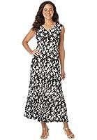 Women's Plus Size Sleeveless Crinkle Dress