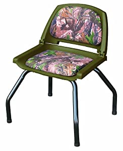 Wise Outdoors WD302-762 Hunting Blind Seat with Seat Stand and Swivel, RealTree All Purpose Green Camouflage