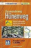 Hikeline Fernwanderweg Hünenweg, 210 km, Vorbei an Großsteingräbern durch das Osnabrücker Land und das Emsland, 1:35.000, wetterfest