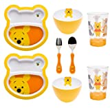 Zak Designs 8-Piece Winnie The Pooh Mealtime Set