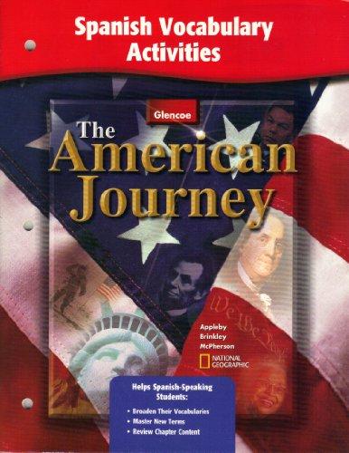 American Journey, Spanish Vocabulary Activities