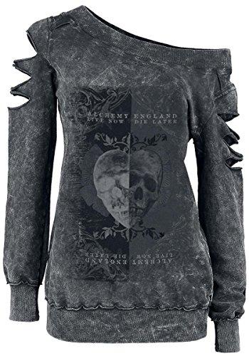 Alchemy England Skull Heart Felpa donna grigio S