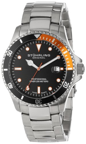 ... Aquadiver Regatta Elite Swiss Quartz Diver Date Orange Bezel Watch We  guarantee you will get Stuhrling Original Men s 8326B.331157 Aquadiver  Regatta ... 0084723ed1d