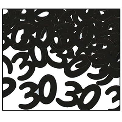 Beistle 50625-BK Black Fanci-Fetti 30 Silhouettes