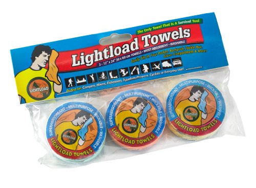 Lightload Towels-travel,camping outdoor-The only Towels that are Survival Tools (three pack 30x60cm)