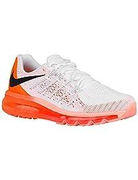 Nike Women's Air Max 2015 White/Bright Citrus/Sunset Glow/Black Mesh Running Shoes 10 M US