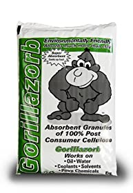 ESP Gorillazorb Cellulose Complex Universal Granular Absorbent, 4 Gallon Absorbency, 25 lbs Poly Bag, Off White
