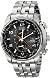 "Citizen Mens AT9010-52E ""World Time A-T"" Stainless Steel Eco-Drive Watch"