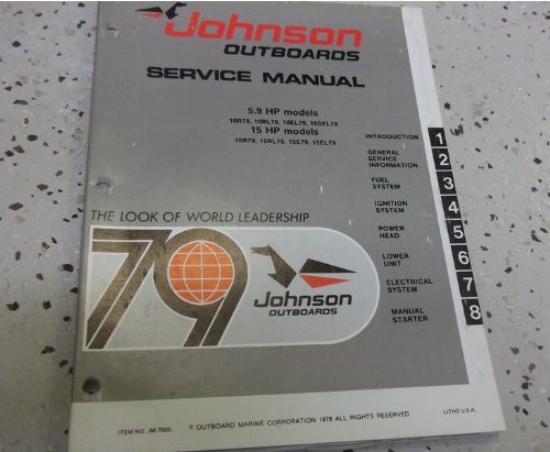 1979 Johnson Outboards 25 HP 35 HP MODELS Service Shop