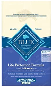 Blue Buffalo Healthy Weight Large Breed Dry Dog Food, Chicken and Rice Recipe, 15-Pound Bag