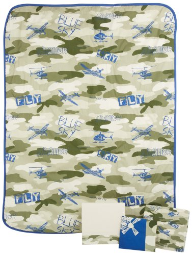 Blue Camo Baby Bedding 176892 back