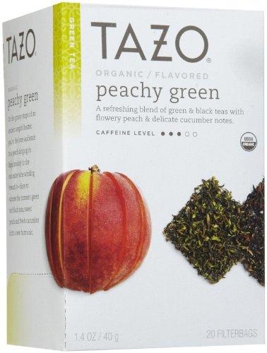 Tazo Organic Peachy Green Tea, 20 Ct