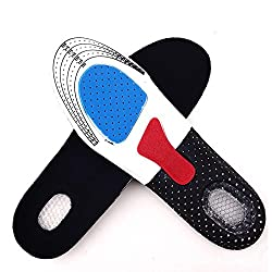 Free Size Unisex Orthotic Arch Support Shoe Pad Sport Running Gel Insoles Insert Cushion for Men Women