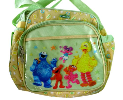 Sesame Street Baby Bag - Small Elmo and Friends Diaper and bottle Bag - 1