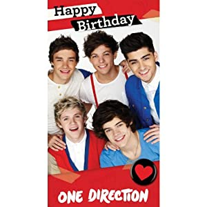 "One Direction Fold Out ""Poster"" Birthday Card from One Direction"