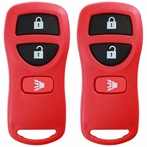 KeylessOption Keyless Entry Remote Control Car Key Fob Replacement for KBRASTU15, CWTWB1U733-Red (Pack of 2) (2004 Nissan Exterra Parts compare prices)