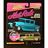 1929 CREW CAB * OLIVE GREEN * Johnny Lightning 1997 HOT RODS Release Four 1:64 Scale Die Cast Vehicl