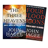 img - for John Hagee Book Set -The Three Heavens: Angels, Demons and What Lies Ahead , Four Blood Moons: Something is About to Change book / textbook / text book