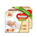 #8: Huggies Ultra Soft for New Baby XS Size Diapers (Pack of 2, 22 Count)